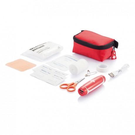 Kit premiers secours avec chargeur de secours personnalisé