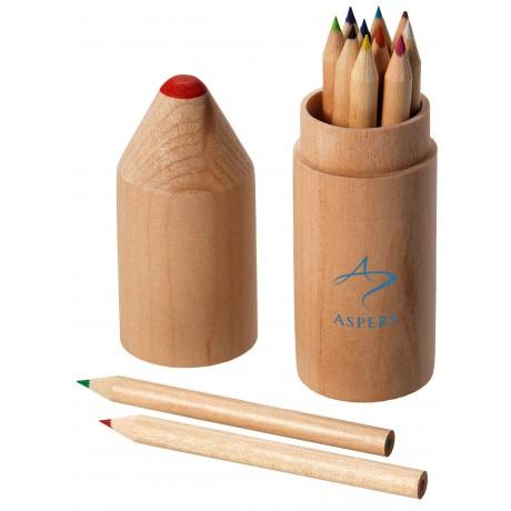 Set de 12 crayons de couleur pour entreprise