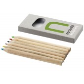 Set de 6 crayons de couleur publicitaire