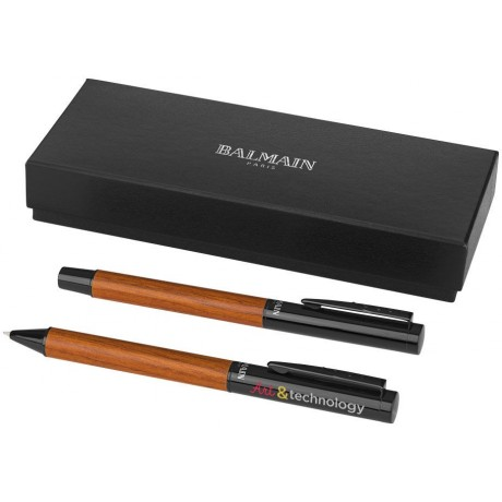 Set de deux stylos Woodgrain personnalisable
