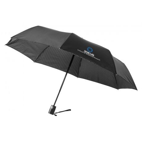 """Parapluie double couche 3 sections à ouverture/fermeture automatique 21"""" Floyd personnalisé"""