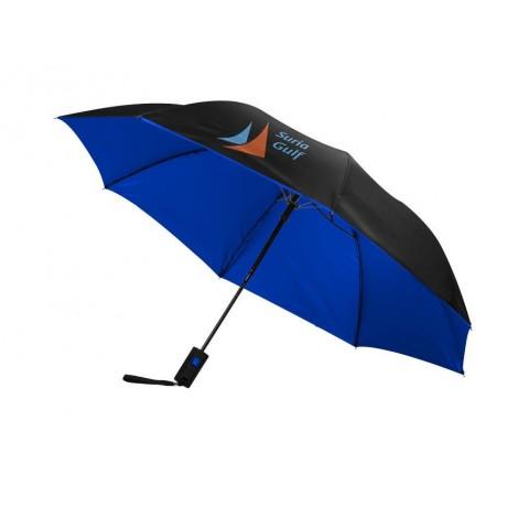 """Parapluie 21"""" pliant 2 sections automatique Spark personnalisé"""