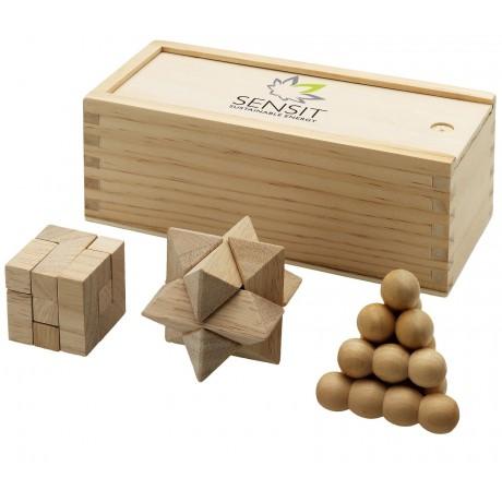 Casse-tête chinois en bois 3 pièces promotionnel