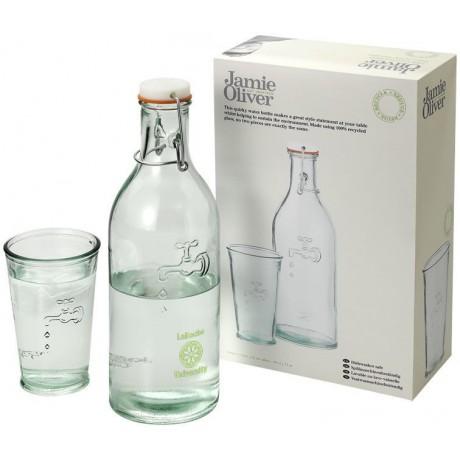 Carafe à eau avec son verre publicitaire