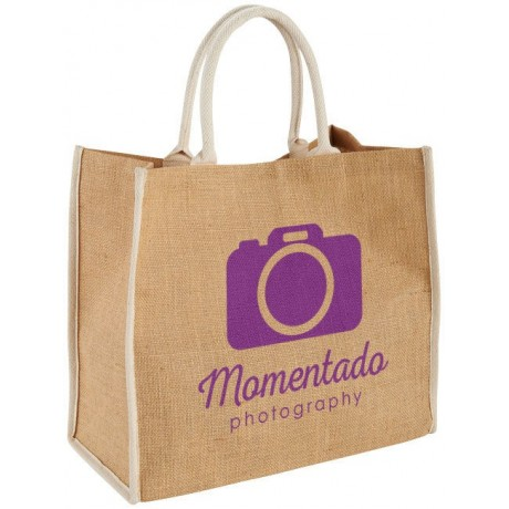 Grand Sac Shopping Jute publicitaire