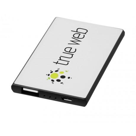 Batterie de secours 2000 mAh Slim au format carte de crédit personnalisée