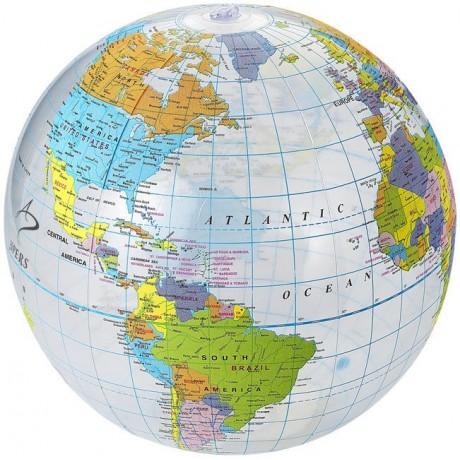 Ballon de plage transparent Globe pour entreprise