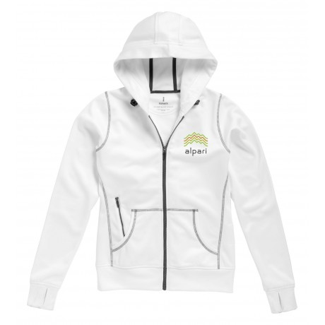 Sweater capuche full zip femme Moresby pour entreprise