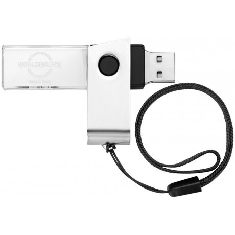 Clé USB à personnaliser rotative cristal