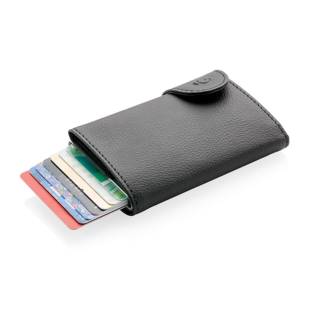 Portefeuille pour T/éL/éPhone Portable /à /éCran Tactile /à Bandouli/èRe|Mini Portefeuille L/éGer Bloquant Les RFID avec Fentes pour Cartes /à Sangle Dark Blue