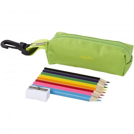 Trousse avec crayons de couleur personnalisable