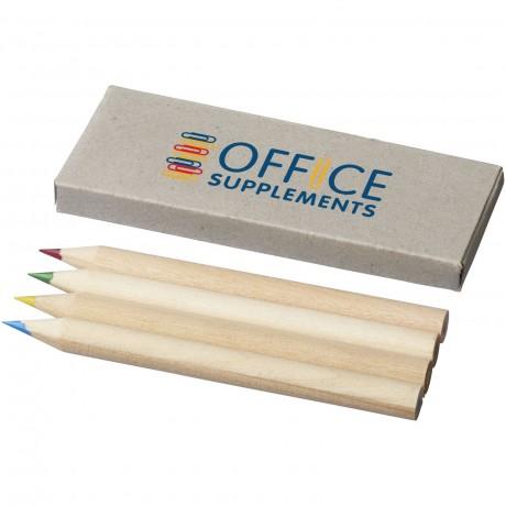 Set de 4 crayons de couleur personnalisé