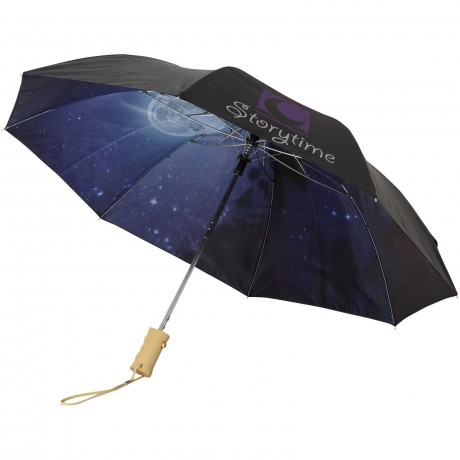 "Parapluie automatique 2 sections 21"" Clear night sky personnalisé"