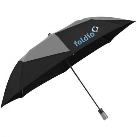 """Parapluie ouverture automatique 2 sections 23"""" Pinwheel publicitaire"""