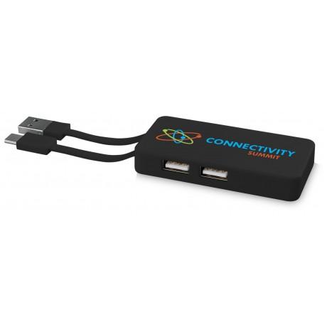 Hub USB avec cable dual personnalisé