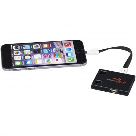 Hub USB avec cables 3 en 1 pour entreprise
