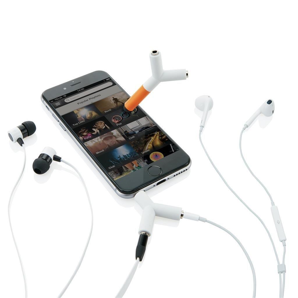 Separateur audio et stylo tactile public